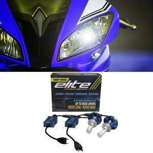 H7 LED Headlight Bulbs Kit For Yamaha YZF R6 YZFR6 2008 to 2016 R3 2016 to 2018