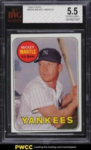 1969 Topps Mickey Mantle #500 BVG 5.5 EX+
