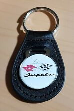 Chevrolet Impala Schlüsselanhänger Logo Racing Leder - Maße Emblem 30mm