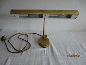 hochwertige alte JAHN - Pianoleuchte - Klavierlampe Messing 2-flammig..gebraucht