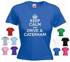 'Keep Calm and Drive a Caterham Funny Ladies Gift T-shirt