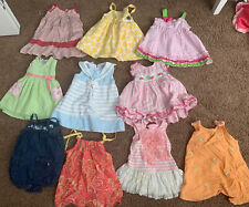 baby girl summer clothes 12-18 months lot 10 Piece
