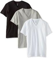 Men's Calvin Klein 3 Three Pack Classic Cotton V-Neck Tee Shirt Gray White Black