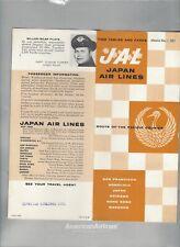 Japan Airlines  November 1 1957 timetable