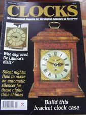 CLOCKS MAGAZINE - FEBRUARY 1996 DE LAUNCE B L VULLIAMY SETH THOMAS WALNUT CASE