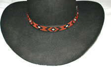 Western Vintage Beaded Hatband Stretch Multi Cowboy Rodeo Hat Band Jeans Dress R