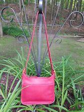 Vintage COACH LEGACY Red Nickle CROSS BODY BAG HANDBAG NICE VERY CLEAN