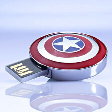 Marvel Avengers Captain America Metal 8GB USB 2.0 Flash Pen Drive Memory Stick