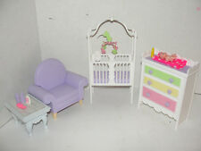 Barbie Happy Family Midge Play All Day Nursery Crib Bed Baby Doll Furniture Lot