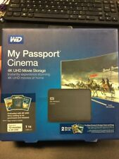 WD My Passport Cinema 1TB 4K UHD Movie Storage