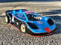 0094S- CARROZZERIA MCLAREN GTR 1/8 SCALE GP RC CAR BODY 295mm serpent