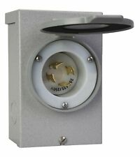RELIANCE PB30 30 AMP OUTDOOR GENERATOR POWER INLET BOX 7500 WATT USA