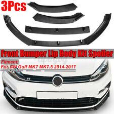 For Volkswagen Golf MK7 MK7.5 14-17 Carbon Front Bumper Lip Splitter Spoiler