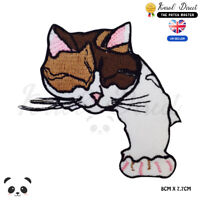 Cute Sleepy Cat Disney Embroidered Iron On Sew On PatchBadge For Clothes etc