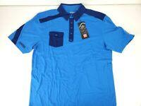 Ogio Mens Clutch Polo Short Sleeve Blue Golf Shirt McNeese Logo Size Large NWT
