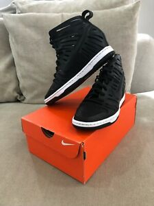 Rare Nike Dunk Ski Hi 2.0 Joli Wedges Women Shoes 6 US Black Leather Sandal [WS2