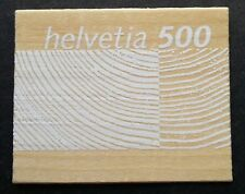 Switzerland Woods 2004 (stamp) Mnh *wooden made *imperf *unusual