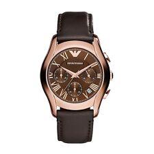 d0e1413df0b Emporio Armani Clássico Marrom Rosa Ouro Analógico De Quartzo Relógio  Masculino .