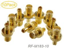 10-Pack TS9 Male Plug to SMA Female Jack Gold-Plated RF Adapter, RF-M183-10
