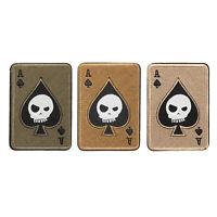 Ace Spades Death Skull Card USA Army Tactical Morale Aufnäher Hook Abzeichen BS7