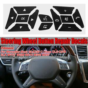 Mercedes Benz Steering Wheel Button Repair Decals Stickers Mercedes