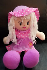 """Far East Brokers Girl Doll with Pink Dress, Shoes and Hat stuffed/plush - 13"""""""