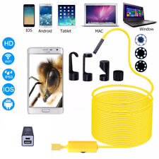 10M 8LED Wireless Endoscope WiFi Borescope Inspection Camera fits iPhone Android