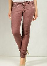 "Guarapo Womens Bordeaux Pants 26"" x 30"" BNWT Slim F 8 40 Italian Jeans GU568068F"