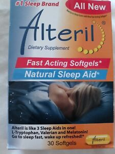 Alteril Natural Sleep Aid 30 Softgels Brand New Exp: 2021