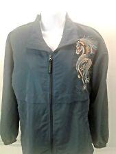 Stormtech Performance Womens Blue Full Zip  Windbreaker w/Horse Embroidery Sz S