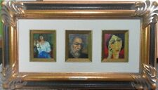 ANTHONY QUINN HOLLYWOOOD ACTOR OIL PAINTING LITHOGRAPH PLATE SIGNED ZORBA w/COA