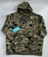 NWT Nike Sportswear Club NSW Camo Hoodie AR1313-324 Men's size 2XL XXL NEW RARE