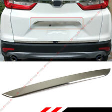 FOR 17-18 HONDA CRV CHROME STAINLESS STEEL TRUNK TAILGATE HANDLE LID TRIM COVER