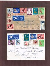 Republic of South Africa 1st & 2nd definitive issues on two FDC's to Canada