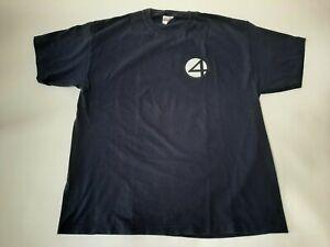 Activision Marvel Comics Fantastic Four T Shirt 2005 Dark Blue Size XL