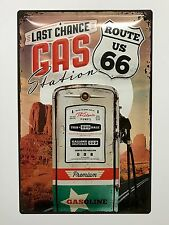 Route 66 The Last Gas Station - Tin Metal Wall Sign
