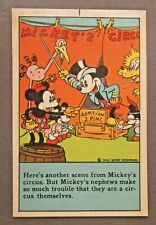 1930's D97 Bamby Bread MICKEY MOUSE RECIPES Circus card