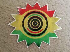 RASTA Bob Marley Reggae 5 inch by 5 inch Sticker/ Decal  Sun / Star DIE CUT