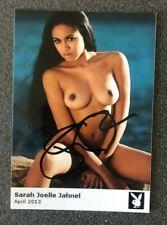 Sarah Joel Jahnel  original Playboy Autogramm Foto Erotik Porno Modell Sexy