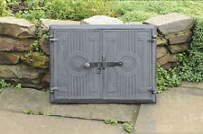 44 x 33 cm cast iron fire door clay / bread oven doors / pizza stove smoke house
