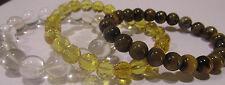 Premium Trio Bracelets Citrine, Crystal & Tiger Eye - Reiki & Healing Crystals