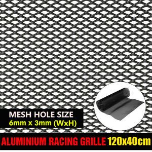 Aluminium Racing Grille Net Vent Race Car Tuning Grill 40x120cm Mesh Hole 6x3mm