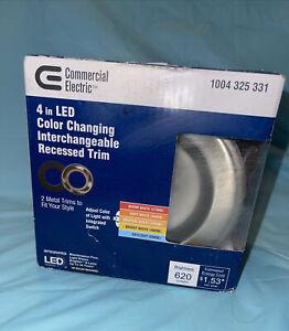 4 inch Selectable Color Temp LED Light  Retrofit Interchangeable Trim