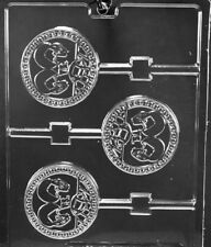 S116 Dueling Football Helmets Lolly Chocolate Candy Mold