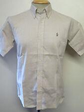 Ralph Lauren Polo Herren braun Kurzarm Freizeithemd Regular Fit Größe S 34-36