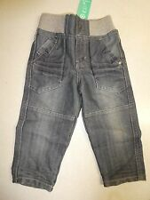 BNWT BOYS SIZE 2 RIB DENIM JEANS ELASTIC WAIST - PERFECT FOR TOILET TRAINING NEW