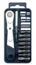 Pocket Tool Set with Mini Ratchet Wrench with 7 pcs Bits 4pcs Sockets Palm Tool