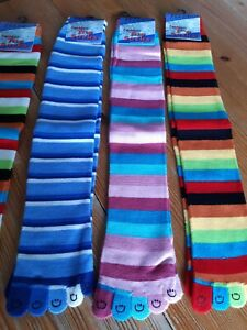 💙Striped Toe Socks One Size Bnwt Lovely Soft And Comfy With Smiles On Your Toes