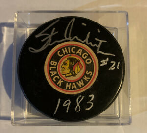 Stan Mikita Autograph  Viceroy Rubbers And Plastics Puck Very Rare