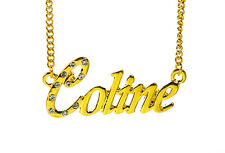 18K Gold Plated Necklace With Name COLINE - Neckless Jewelry Accessories Gifts